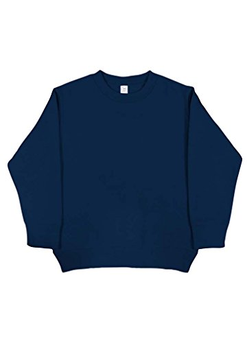 Rabbit Skins Blank Toddler Fleece Sweatshirt [Size 2T] Navy Blue Long Sleeve (Navy Blue Toddler Sweatshirt)