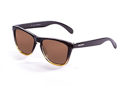 Amarillo única Sea degradado Unisex Color Sunglasses Talla de Sol Marrón Marrón Ocean Gafas Marrón 07xqzWz5