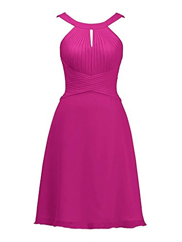 fuchsia halter dress - 7