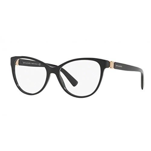 Bvlgari Women's BV4151 Eyeglasses Black (Bulgari Eyeglasses)