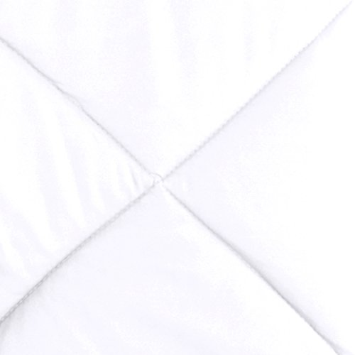 AmazonBasics Reversible Microfiber Comforter - Twin/Twin XL, White - bedroomdesign.us