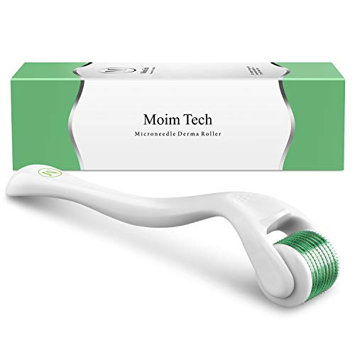 - Derma Roller, MoimTech Cosmetic Microneedle Instrument For Face and Body with 540 Titanium Micro Needle 0.3mm - Includes Storage Case