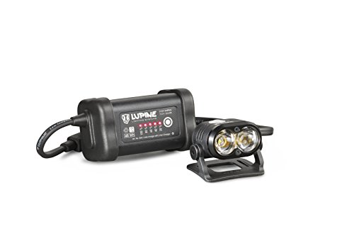 Lupine Lighting Systems Piko 7 1800 Lumen 6.6 Ah SmartCore battery, 2x velcro, helmet mount with velcro, Wiesel charger, 120cm extension cable, pouch (2018 Model) by Lupine Lighting Systems