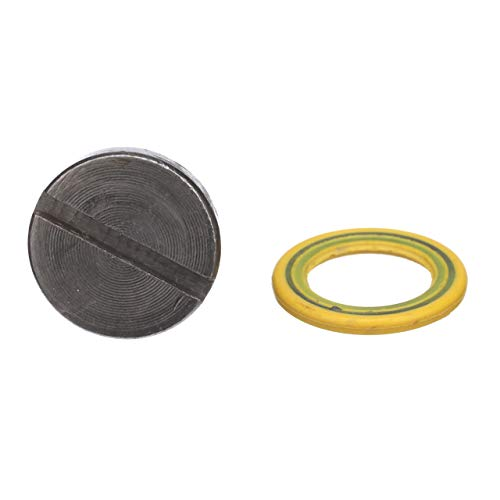 Quicksilver 8M0058389 Lower Unit Gear Lube Drain and Fill Hole Screw and Seal - Magnetic - Two Pack