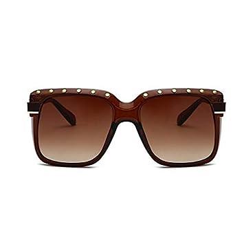 AAMOUSE Gafas de Sol Tendencias Marco Grande Remache ...