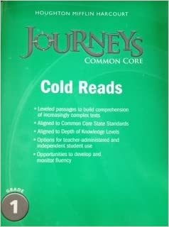 Amazon journeys cold reads grade 1 9780547893884 houghton journeys cold reads grade 1 1st edition by houghton mifflin harcourt fandeluxe Image collections