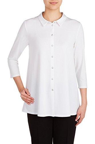 Nygard 3/4 Sleeve Blouse (Nygard Women's Plus Size Peter Nygard 3/4 Sleeve Tunic Blouse White)