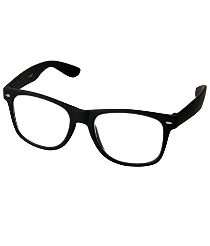 a383f2a456 Stylen Clear Lens Black Frame Wayfarer Style Unisex Eyeglasses Sunglasses   Amazon.in  Clothing   Accessories