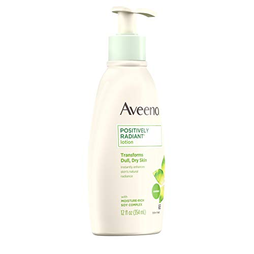 Aveeno Positively Radiant Body Lotion, 12 Fl. Oz (Pack of 3) للبيع