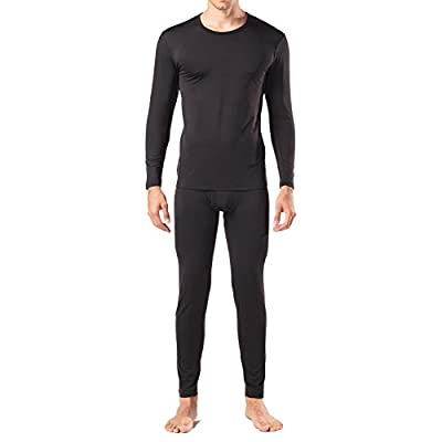 Lapasa Men's Thermal Set Fleece Lined STAY WARM Base Layer Top & Bottom Long John Ski Underwear