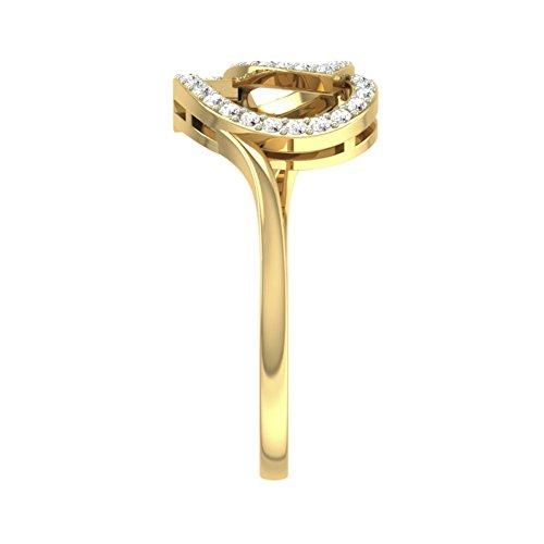 Or jaune 14K 0.25CT TW Round-cut-diamond (IJ | SI) en diamant