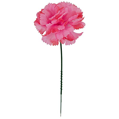 Royal Imports 100 Hot Pink Silk Carnations, Artificial Fake Flower Bouquets, Weddings, Cemetery, Crafts & Wreaths, 5 Stem Pick (Bulk)
