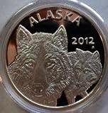 Alaska Mint 2012 Official State Silver Medallion .999 1 Troy Oz