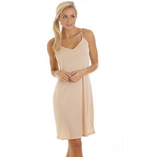 Camille Women's Womens Ladies Beige Nightwear Chemise Full Slip 10 Beige