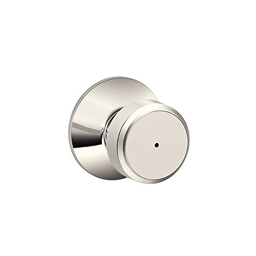 schlage f40 bwe 618 bowery knob bed and bath polished nickel