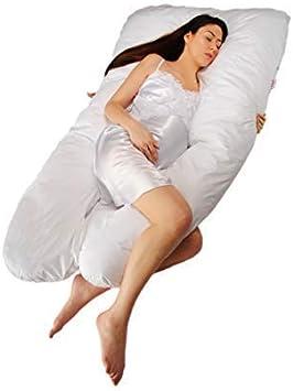 Sanggol Almohada con Forma de U, Almohada de Embarazo para Dormir y Cojin Lactancia Soporte del Cuerpo de la Mama y del bebé con Funda de algodón Desmontable y Lavable – (140 cm x 82 cm)