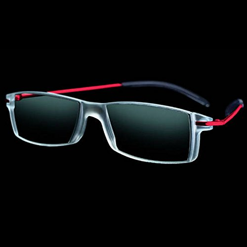+3.0 Diopter Eschenbach Mini Frame 2 Progressive Reader - Red by MAGNIFYING AIDS