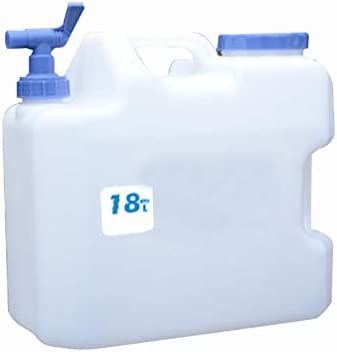 18L automobile camping Outdoor drinking water canister water tank With tap New