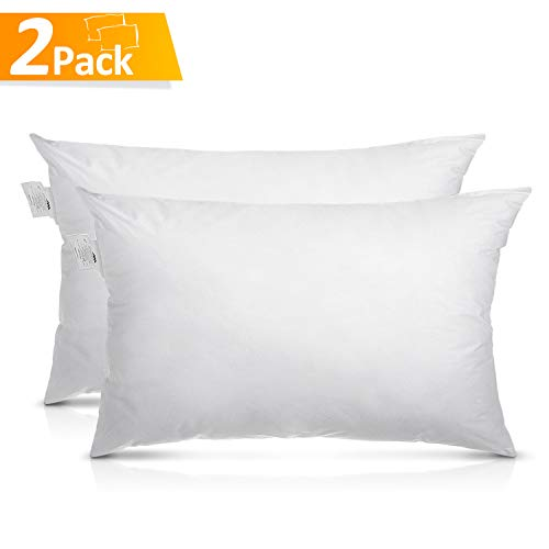 AdorioVix Bed Pillows for Sleeping, Hypoallergenic & Dust Mite Resistant, 100% Cotton Cover, Comfortable Pillows for Sleeping (Queen Size 20