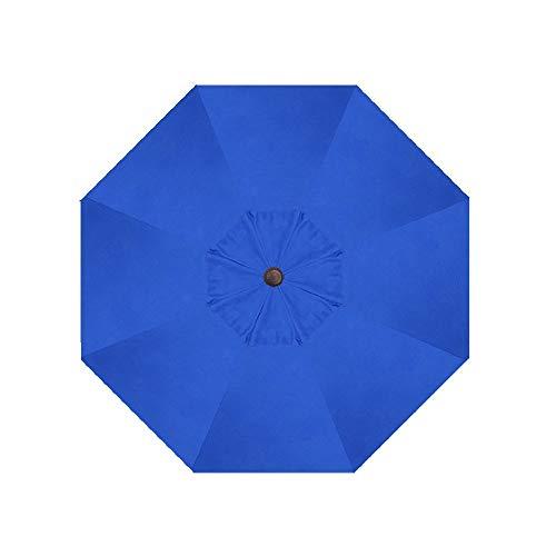 Sunbrella Fabric Canvas Blue 9' Umbrella 8 Ribs Outdoor Patio Umbrella Replacement Canopy Only (Sunbrella Canopy Only, ()