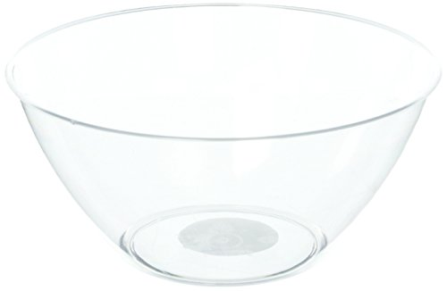 amscan Clear Swirl Plastic Bowl | 2 Qt.