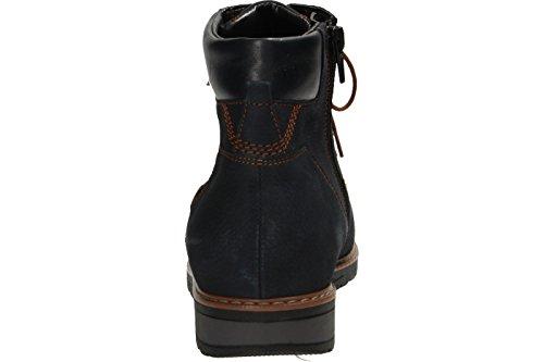 Waldläufer Havida - botas de caño bajo de piel mujer Azul