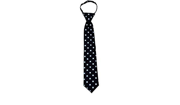 Boys Black and Gray 14 inch Zipper Necktie pattern Pre-made Zip Ties for boys