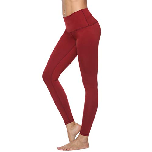 Women Solid Color Athletic Pants, High Waist Slim Fitness Gym Leggings, for Sports Yoga Running Workout Stretch Butt Lift Tight