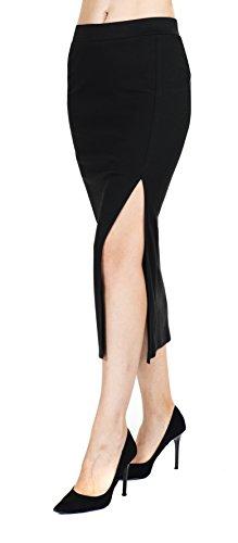 Megan apparel Women's Rayon Span Maix Solid Skirt