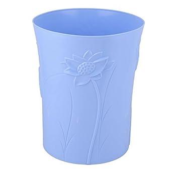 Diseño Floral eDealMax plástico Inicio Tabla de escritorio Papelera cubo de basura Bote de basura Azul