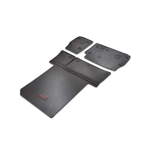 - Jeep Wrangler 82215185AC Molded Cargo Area Tray - Leather Trim Only - Without Gap Hider