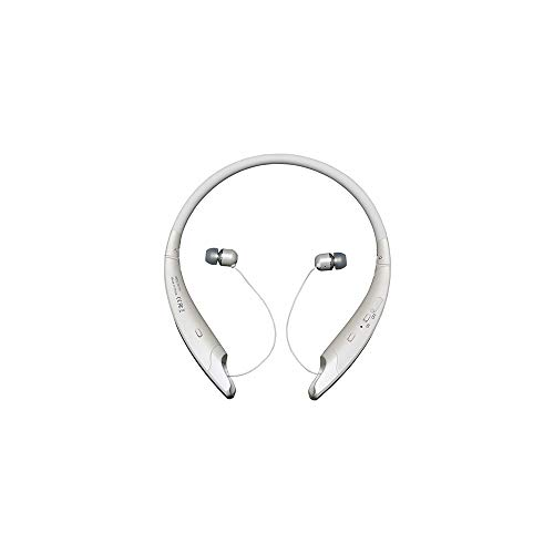 Bluetooth Headphones Retractable, Sport Wireless Headset Stereo Neckband Headset Retractable Noise Cancelling Headsets Earbuds with Mic for iPhone Android -White