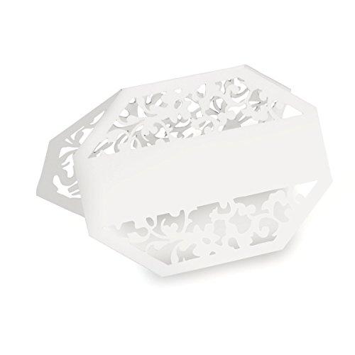 Darice David Tutera Illusion, 25 Piece, Die Cut Lace Paper Place Cards, White