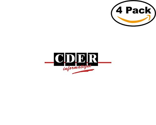 Cder Informatique 4 Stickers 4X4 inches Car Bumper Window Sticker Decal