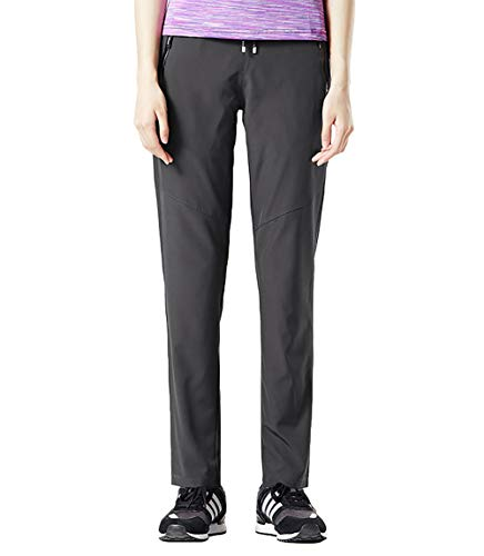BGOWATU Women's Hiking Pants Quick Dry Stretch with Zipper Pockets Outdoor Mountain Trousers Dark Grey