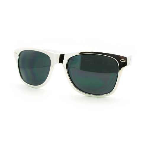 Shiny Metallic Silver Stunna Shades Classic Wayfarer - Stunna Sunglasses