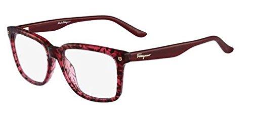 (SALVATORE FERRAGAMO Eyeglasses SF2685 609 Red Tortoise 52MM, 52/16/135)