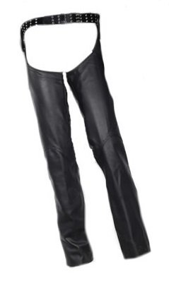 Womens Leather Sling Chaps with Snap Belt Loop Large