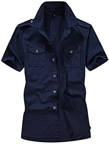 (ボナスティモーロ) Buona stimolo メンズ ミリタリー シャツ 半袖 無地 カットソー アメカジ カーゴ トップス
