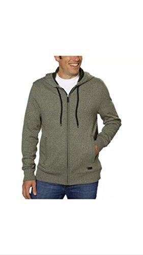Dkny Men Jeans Sweaters - DKNY Men's Full-Zip Hooded Sweatshirt - Pine - Large