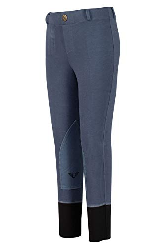 TuffRider Girl's Starter Lowrise Pull-On Breech, Denim, ()
