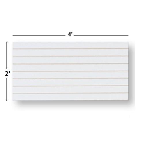 White Slatwall Panels Organizer Kit - Includes (2) - 24'' x 48'' White Slatwall Panels plus (15) - 4'' White Slatwall Hooks and (15) - 6'' White Slatwall Hooks by Only Garment Racks (Image #2)