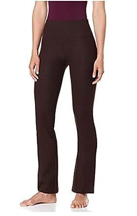 Yummie Tummie Boot-Cut Shaping Legging Yoga Pants ~Brown (Small)