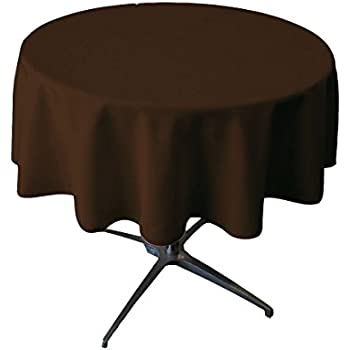 Tablecloth Round 54 Inch Brown By Broward Linens
