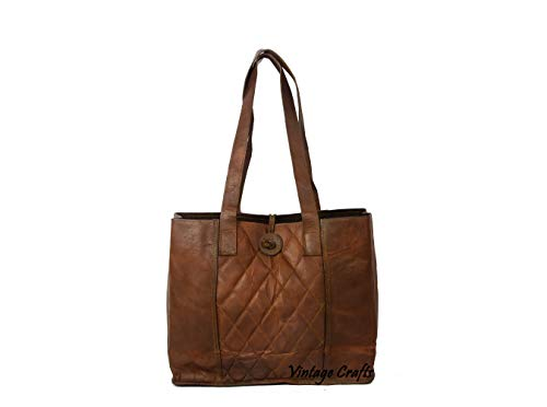 Baby Goat Leather - Genuine Leather Women's Handbag Satchel Tote Bag for Women Shoulder Bag, Laptops up to 15.6 Inches