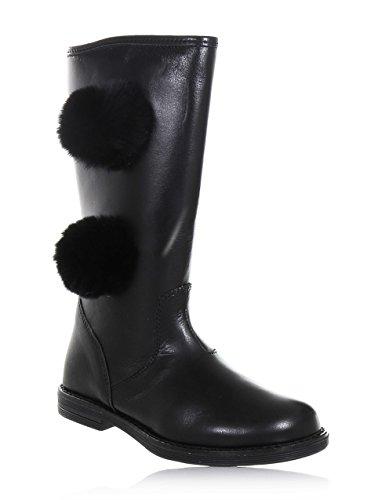 CIAO BIMBI - Schwarzer Stiefel aus Leder, seitlich ein Reißverschluss, Mädchen