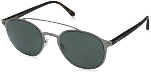 Giorgio Armani Mens Sunglasses (AR6041) Gunmetal Matte/Grey Metal - Non-Polarized - - Giorgio Armani Mens