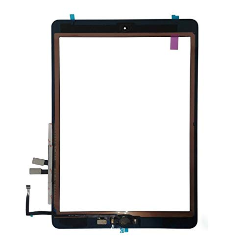 Touch Screen Digitizer + Home Button Replacement for iPad 6 (2018) A1893 A1954 (Black)