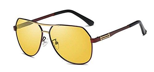 cercle lunettes de Cadre du Lennon rond vintage inspirées métallique style soleil polarisées en Rouge retro fvwrqfHd