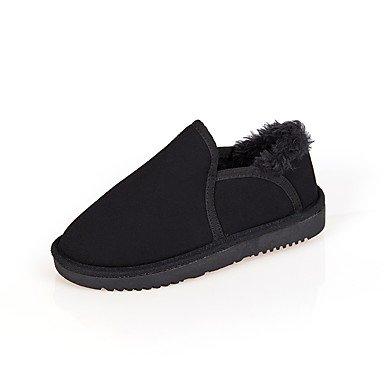 Negro redondo SHAOYE Plano Rosa nieve Caqui Mujer Ante Beige black Zapatos Botas Dedo Tacón Para Gris de Vestido Botas Invierno Casual ABqfxA